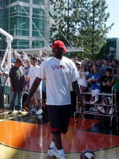 LeBron James 8220Olympic Tour8221 at Nike World Headquarters