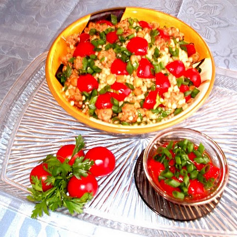 Chicken with Roasted Tomatoes, Parsley & Mint Couscous Recept | Yummly