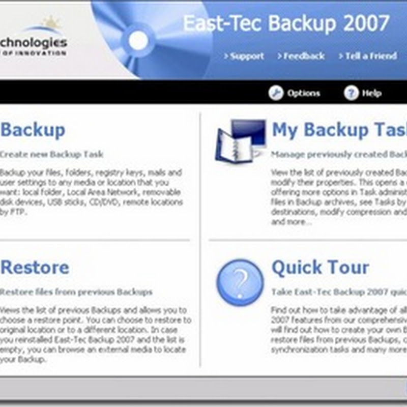 Full version of East-Tec Backup 2007 worth $40 for free