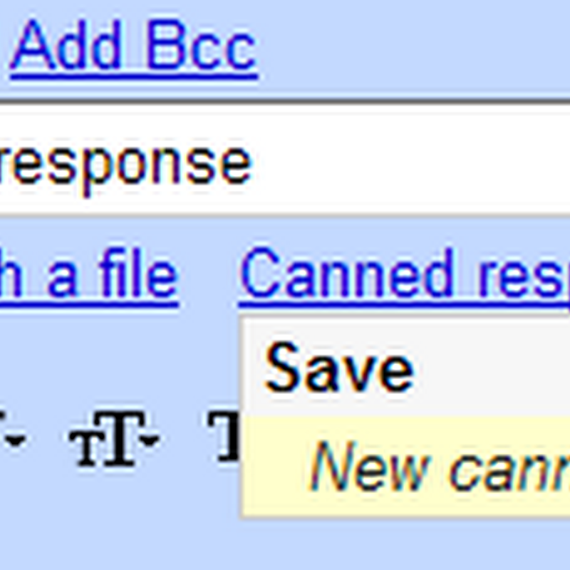 Gmail's new feature: Canned Responses