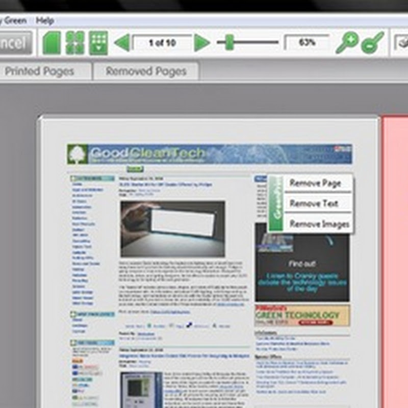 Save pages by printing only what you need with GreenPrint