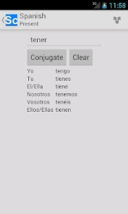 Spanish Verb Conjugator FREE - screenshot
