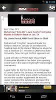 Screenshot of MMA Torch: Live MMA News!