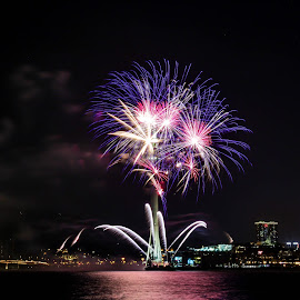 Fireworks competition by Eloa Defly - Abstract Fire & Fireworks ( macao, tower, macau, fireworks, long exposure )