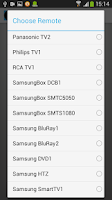 Screenshot of Samsung IR - Universal Remote