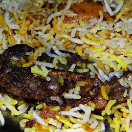 Mutton Biryani by Anindya Bhattacharjee - Food & Drink Plated Food ( mutton biryani, lz20, biryani, lumix, panasonic )