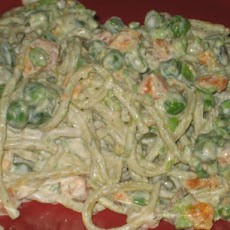 Norwegian Spaghetti Salad With Shrimp