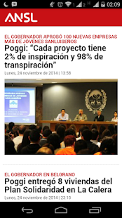 Agencia de Noticias San Luis - screenshot