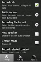 Screenshot of Instant Call Recorder