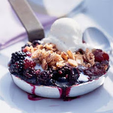 Triple-Berry Crisps with Meringue Streusel