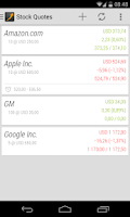 Screenshot of Stock Quotes