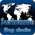 Suriname flag clocks icon