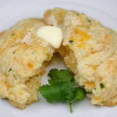 Cheddar Cheese Biscuits with Cilantro