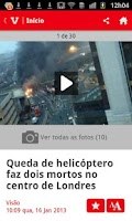 Screenshot of Visão Online