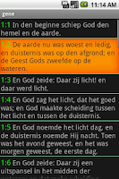 Screenshot of Dutch Bible Bijbel Statenverta