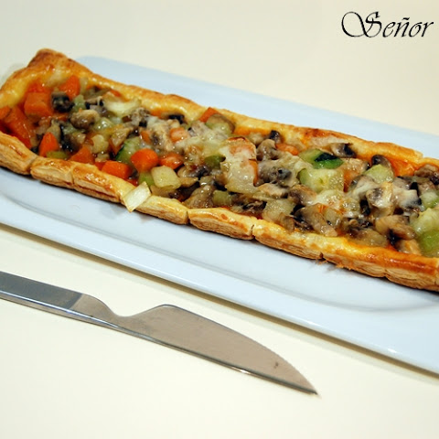 Vegetables on Puff Pastry