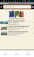 Screenshot of Davenport Public Library