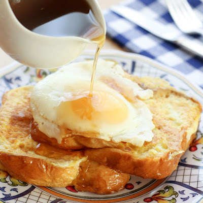 "Brioche French Toast with ""Hot"" Maple Syrup"