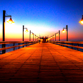 Swakopmund by Andre Bez - Buildings & Architecture Other Exteriors ( lights, sunset, sea, jetty, seascape, colorful, mood factory, vibrant, happiness, January, moods, emotions, inspiration )