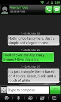 Screenshot of GO SMS THEME - Smooth Green