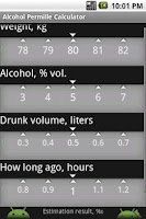 Screenshot of Alcohol Permille Calculator