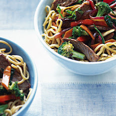 Teriyaki steak stir-fry with Savoy cabbage