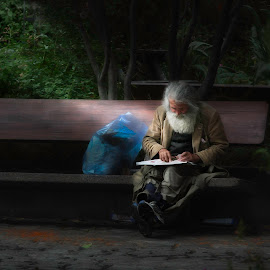 Homeless by John Finch - People Street & Candids ( candids, artistic, city park, digital, people )