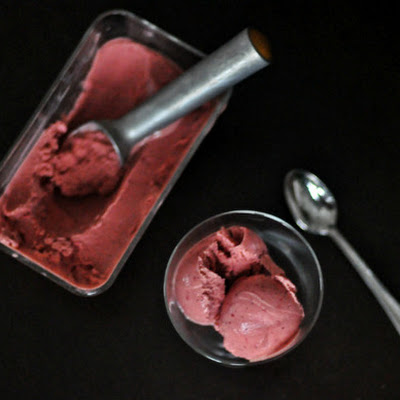 Balsamic Roasted Strawberry Sherbet