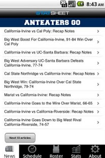 UC-Irvine Basketball - screenshot