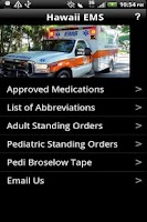 Screenshot of Hawaii EMS Standing Orders