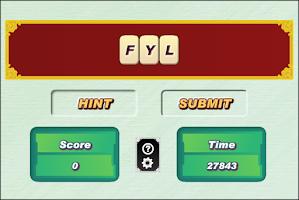 Screenshot of Word Scramble