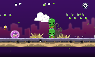 Screenshot of Girl vs Zombie Run Game