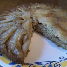 Pear Upside-Down Banana Cake