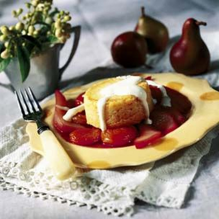 Polenta Custard with Port-Stewed Autumn Fruits Recipe | Yummly
