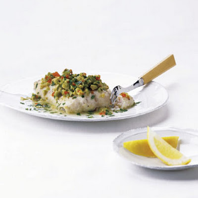 Catfish with Green Olives