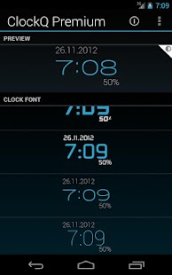 ClockQ - Digital Clock Widget Screenshot