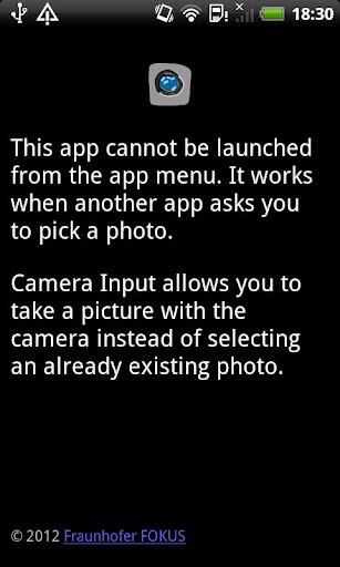 Camera Input