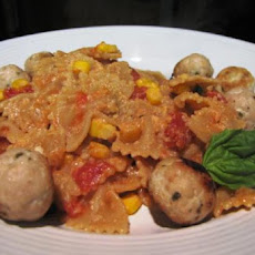Mini Farfalle With Tomatoes and Corn