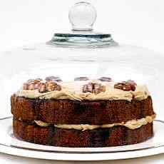 Austrian Coffee and Walnut Cake with Coffee Cream