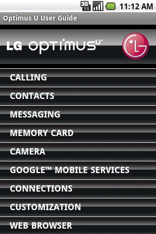 LG Optimus U User Guide
