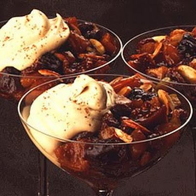 Christmas Pud (Without the Pudding) served with Marsala Syllabub