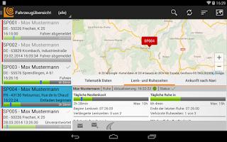 Screenshot of SPEDION Portal App