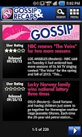 Screenshot of TV Recaps and Gossip