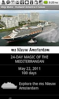 Screenshot of Ship Mate - Holland America
