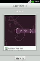 Screenshot of Fashion Pois Bar GO Widget