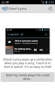 Shout! Lyrics - screenshot