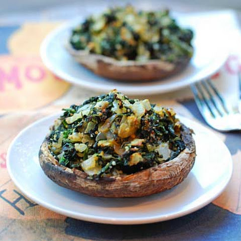 Spinach Stuffed Portobello Mushrooms