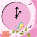 可愛時鐘小工具 icon