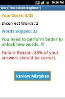 Screenshot of Word Learner Vocab Builder GRE