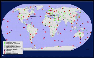 全面禁止核试验条约(CTBT)的地震台站分布